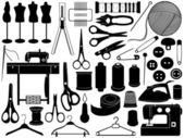 缝纫设备 — 图库矢量图片