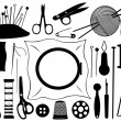Gobelin equipment - Stock Vector