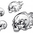 Skull tattoos — Vector de stock