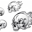Skull tattoos — Vector de stock #6845297