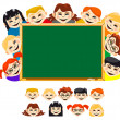 Childrens in school — Stock Vector