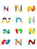 Alphabet Letter N — Stock Vector