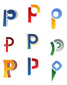 Alphabet letter P — Stock Vector