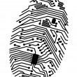 Motherboard fingerprint — Stock Vector #6935246