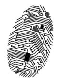 Motherboard fingerprint — Stock Vector