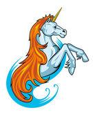 Fantasy unicorn horse — Stock Vector