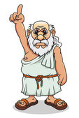 Ancient greek man — Stock Vector