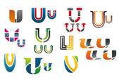 Alphabet letter U — Stock Vector