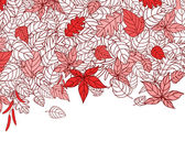 Red Autumn Leaves Background — Stock Vector