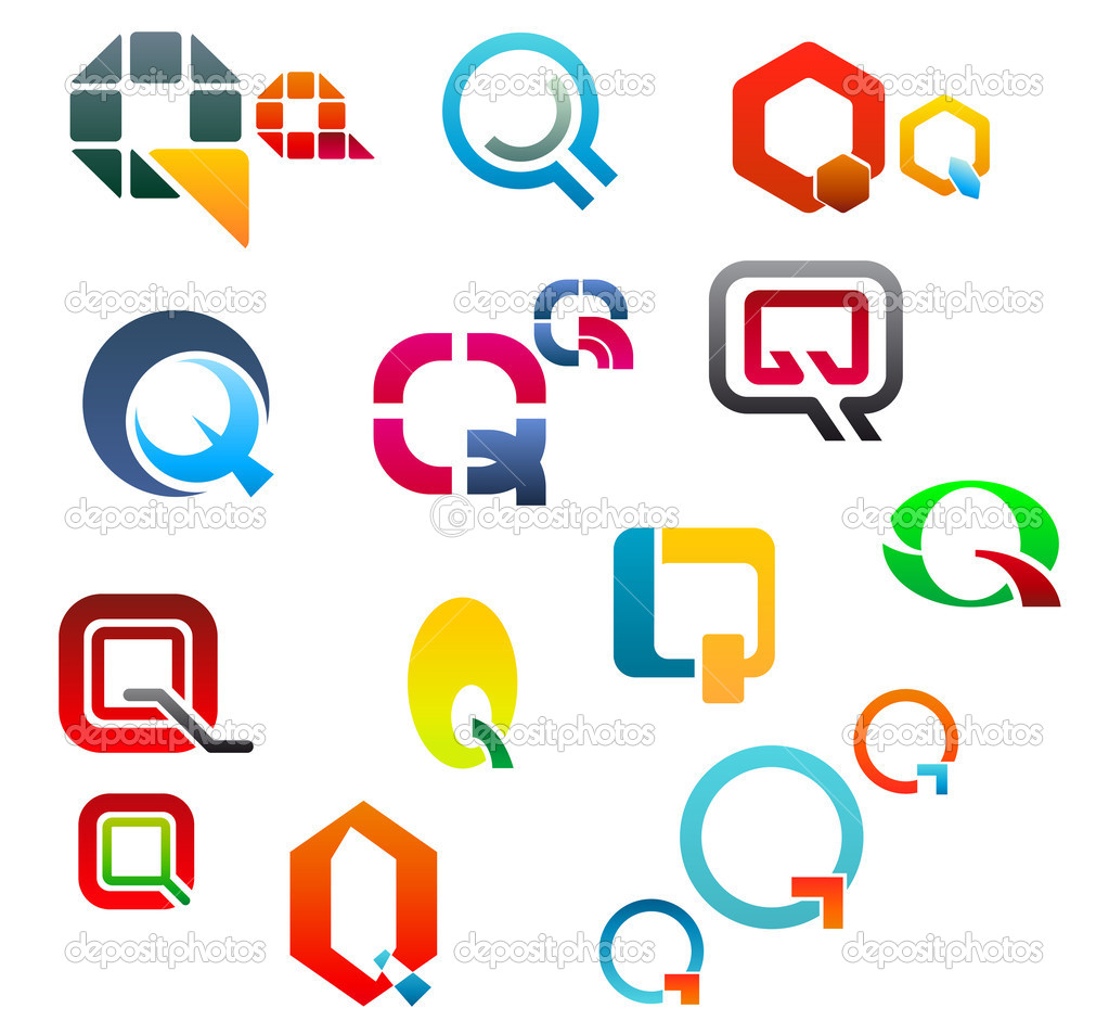 O Alphabet Logo Set of alphabet symbols and