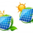 Solar energy panel — Vector de stock #7152721