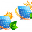 Solar energy panel icons — Stock Vector #7152728