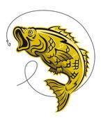 Yellow fish — Stock Vector