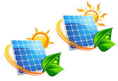 Solar energy panel icons — Stock Vector