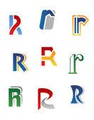 Alphabet letter R — Stock Vector