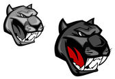 Angry panther — Stock Vector