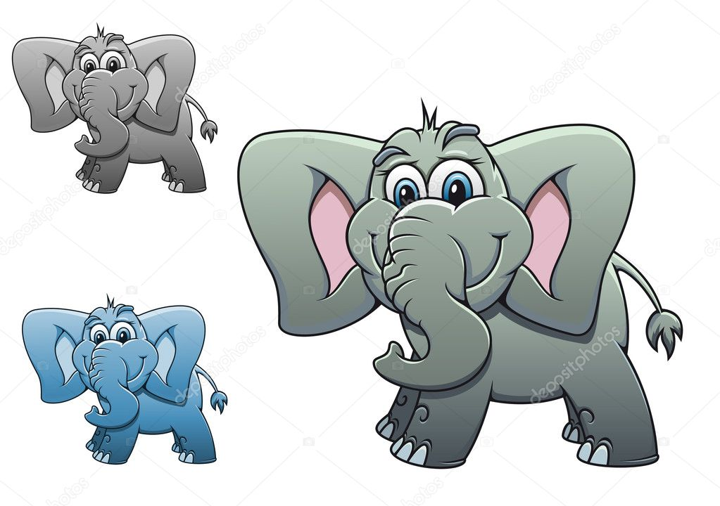 Cute elephant baby isolated on white background for design — Stock Vector #7229380