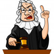Judge makes verdict - Stock Vector
