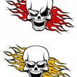Danger skulls tattoo — Stock Vector