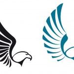 Eagle symbols — Stock Vector