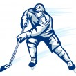 Hockey player — Stock Vector #7314285