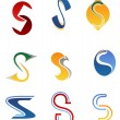 Stock Vector: Alphabet letter S