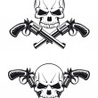 Skull with guns — Stock Vector #7314300