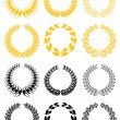 Set of laurel wreaths - Stockvektor