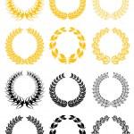 Set of laurel wreaths — Stock Vector #7314316
