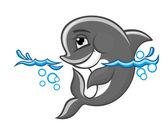 Blue dolphin — Stock Vector
