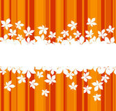 Colorful autumnal leaves background — Stock Vector