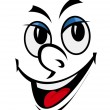 Cartoon funny face — Imagen vectorial