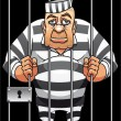 Captured prisoner - Stock Vector