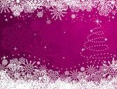 Zimní vánoční pozadí — Stock vektor