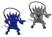 Diablo de dibujos animados — Vector de stock