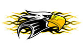 Eagle mascot — Stock Vector