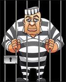 Fångade fånge — Stockvektor