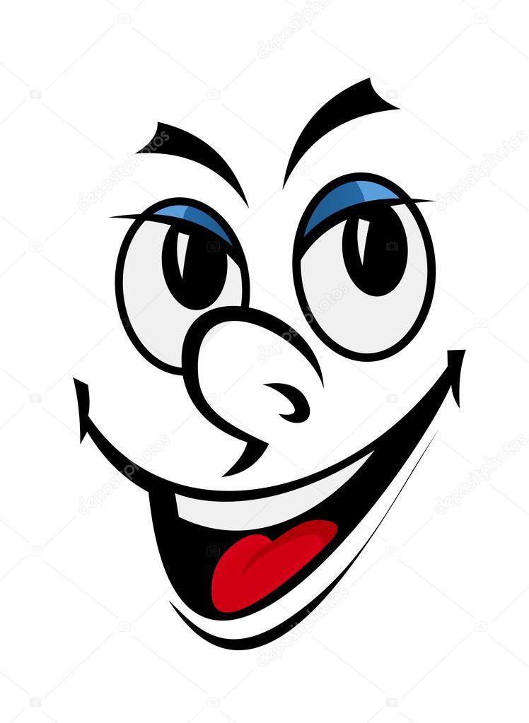 Dessin animé drôle de tête — Image vectorielle #7396564