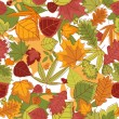 Autumn leaves background seamless — Imagen vectorial