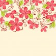 Abstract flower background - Stockvectorbeeld