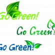 Stock Vector: Go green symbols