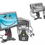 Computer repair service — Stock Vector