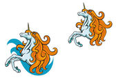 Power unicorn — Stock Vector