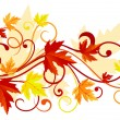 Autumn leaves background - Vettoriali Stock