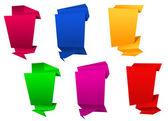 Vertical origami banners — Stock Vector