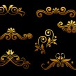 Golden vintage elements and borders — Stock Vector #7931724