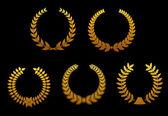 золотые лавровые венки — Cтоковый вектор