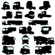 Royalty-Free Stock Vector Image: Truck set