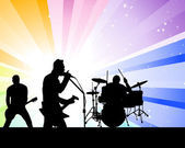Rock group — Stock Vector