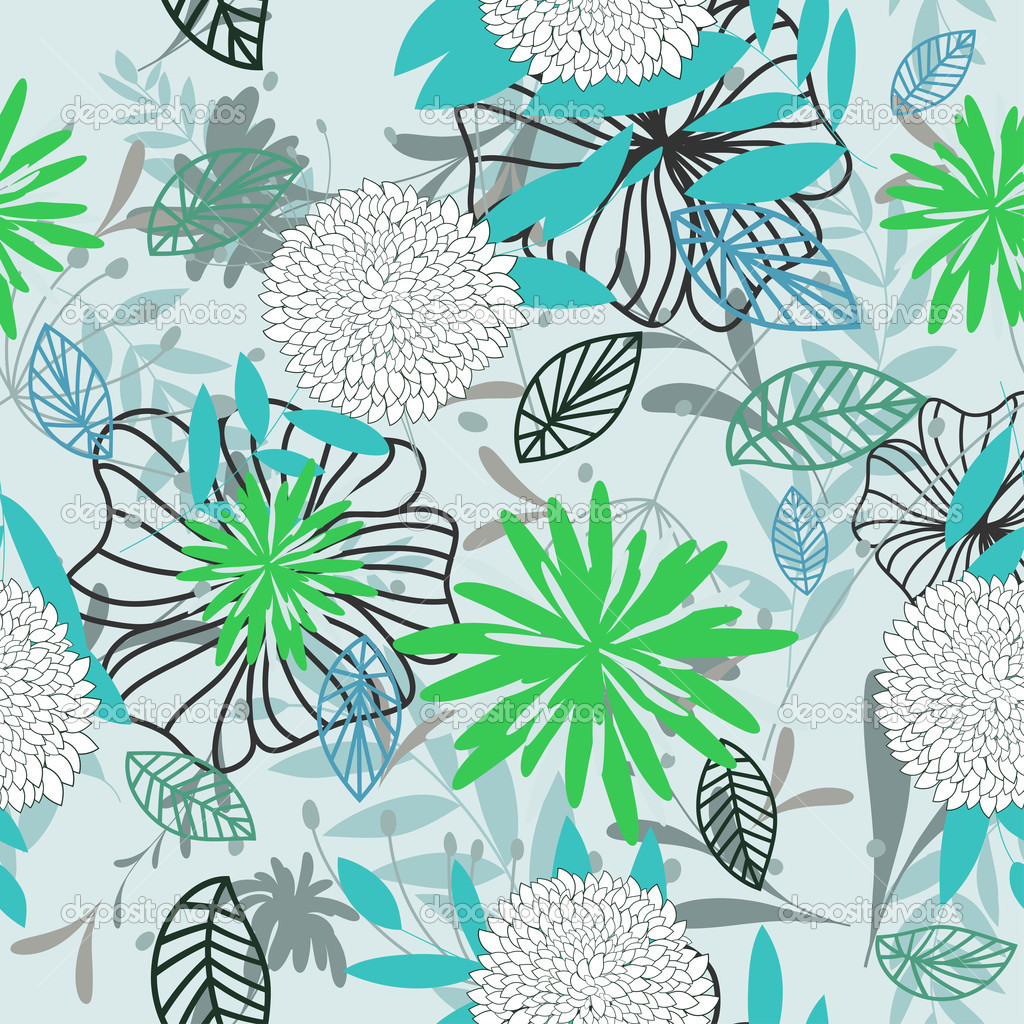 Seamless vector floral pattern. For easy making seamless pattern just drag all group into swatches bar, and use it for filling any contours. — Stock Vector #6837596
